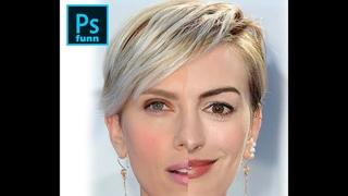 Face swap Anne hatherway Scarlett johansson (Photoshop)