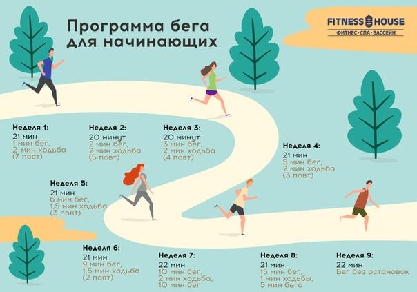 Бег чтобы похудеть время
