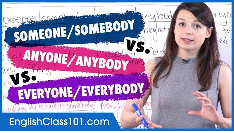 Indefinite Pronouns: someone/anyone/everyone - Basic English Grammar