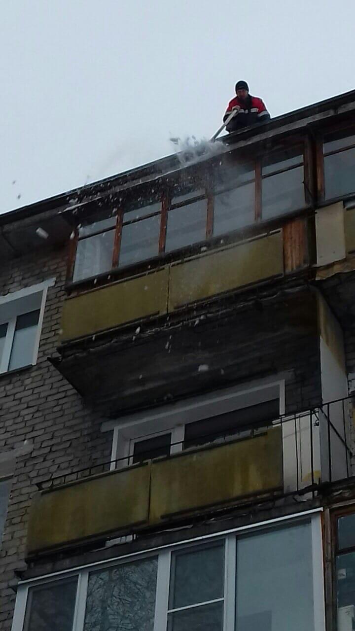 Улица Советская дом 29 чистка периметра от