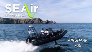Démonstration du Air Shark 765 SEAir : foils déployés avec 80cm de vague