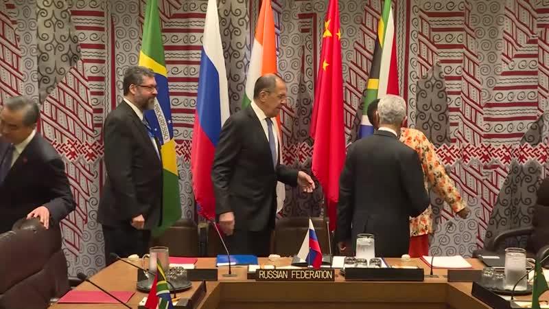 Об участии С.В.Лаврова во встрече глав внешнеполитических ведомств государств БРИКС