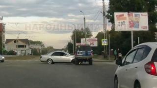 Момент ДТП на мигающий пер Коминтерна и Крупской Ангарск