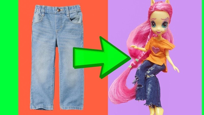 Jeans Outfit DIY BARBIE HACKS AND CRAFTS Making Easy Clothes for Barbies Doll by Devlin Fox