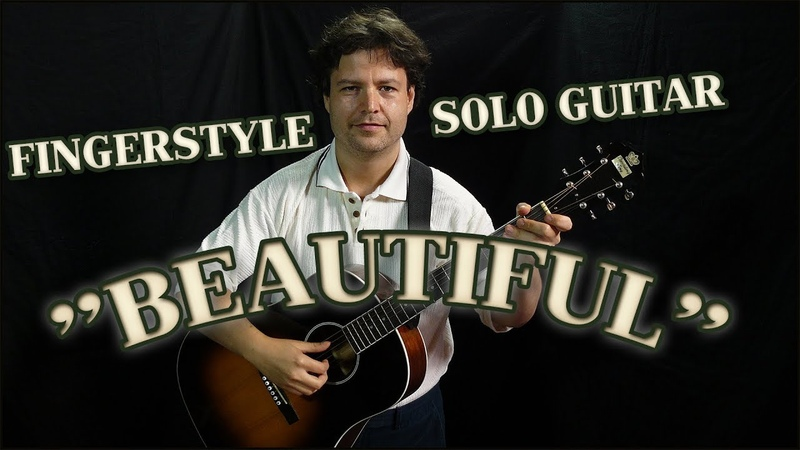 Solo Fingerstyle Guitar with TAB - Beautiful - Acoustic Jazz Bluegrass Fusion, Fingerpick Style