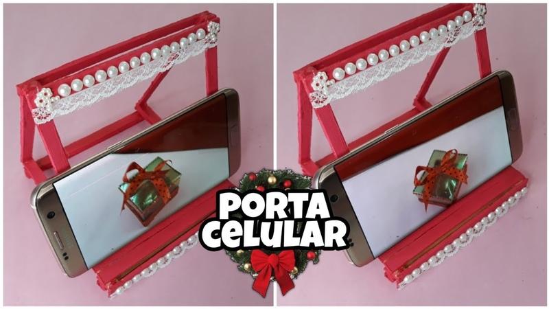Como fazer um porta celular lindo inspirado no Natal Criando Coisas