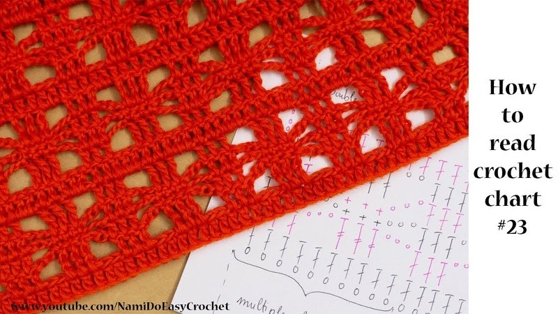 Easy Crochet: How to read crochet chart 23