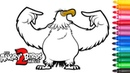 Angry Birds 2 .Drawing and coloring for kids .Mighty Eagle .
