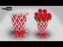 139) Ide Kreatif - Tutorial vas bunga || How to make flower vase || Cotton ear buds flower vase
