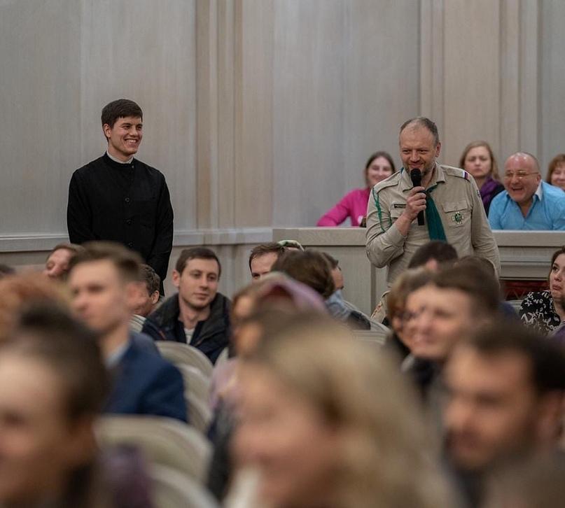 Скауты-разведчики г.Москвы побывали на открытии великопостного цикла встреч с духовенством «Пост со смыслом»
