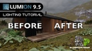 Lumion 9.5 Modern Scandinavian Bungalow Landscape Lighting Set up Rendering Tutorial