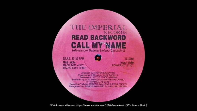 Read Backword Call My Name Powerhit 90's Dance Music