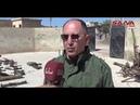 أسلحة وذخائر وأجهزة اتصال من مخلفات الإرهابيين في بلدة الحارة بريف درعا