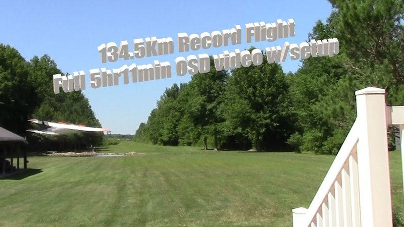 Record 269Km FPV long range flight (134.5Km out and back) - Full 5hr 11min video