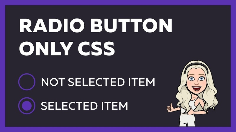 Custom Radio Button using HTML CSS only