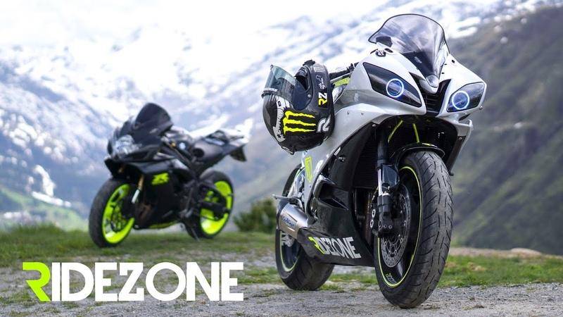 Alps Superbikes meet Mountains Ridezone BMW S1000RR GSX R600 Yamaha R6