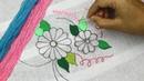 Bordado brasileño flor puntadas fáciles 🌼 Brazilian embroidery stitches with flower embroidery