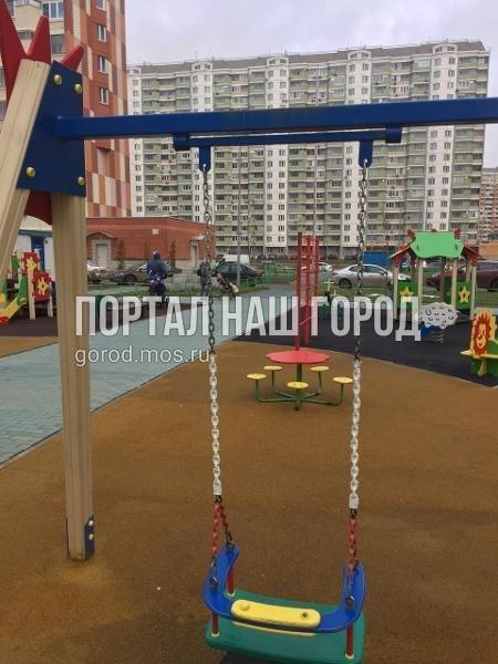 Детская площадка на Покровской вновь стала удобной для игр