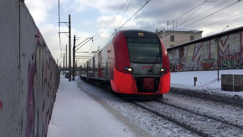 ЭС1-020 Ласточка следует в депо (4К)