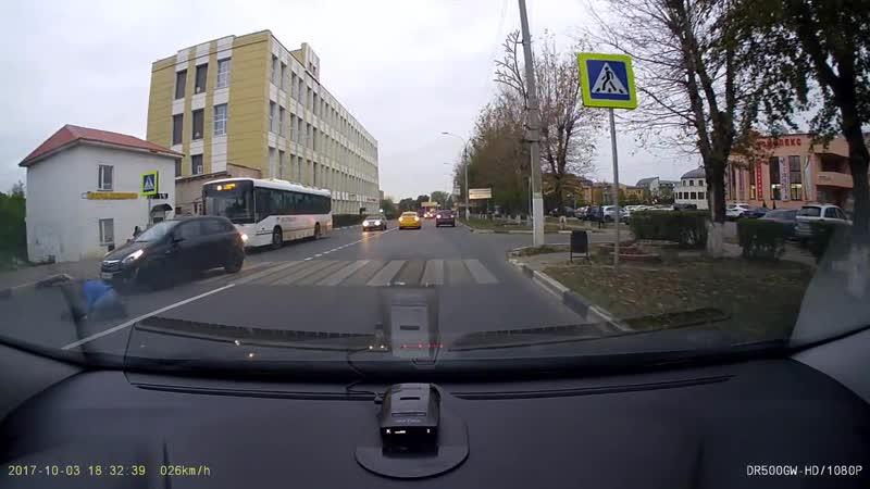 Пешеход не убедился автоледи не притормозила fixter