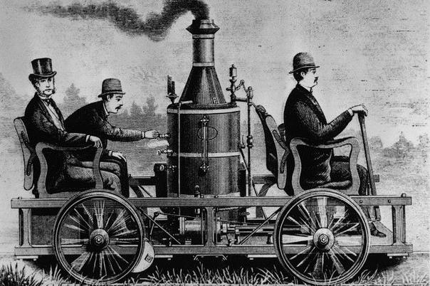 картинка первого автомобиля с паровым котлом довольно сложное