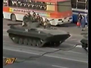 Москва, кровавый октябрь 1993  Реальные кадры