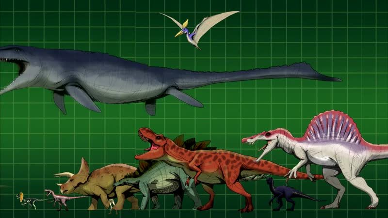 Jurassic World dinosaurs and their real conterparts. Size comparison.