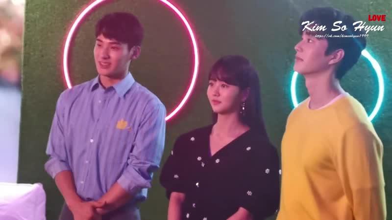 Love Alarm stars Kim Sohyun SongKang -u0026 JungGaran spotted at Lotte World Mall in South Korea