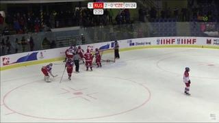 Нина Пирогова vs Сборная Чехии.  Женский хоккей. Драка на ЧМ U18