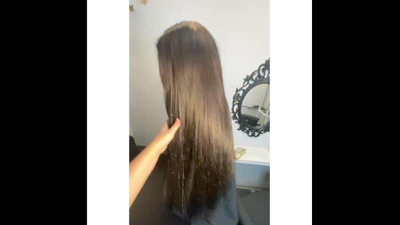 Наращивание волос нижний