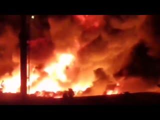 Пожар на обувном складе в Воронеже