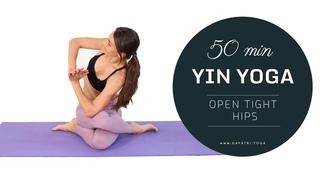 Yin Yoga Deep Hip Stretching Flow » Flexibility & Tension Relief | Gayatri Yoga