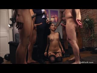 ♉ Husband with four men fucking wife / Kristina Rose