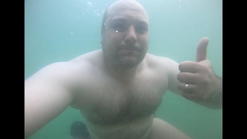 Карьер Горловка Идем купаться на карьер Тест аквабокса для GoPro Подводная сьемка