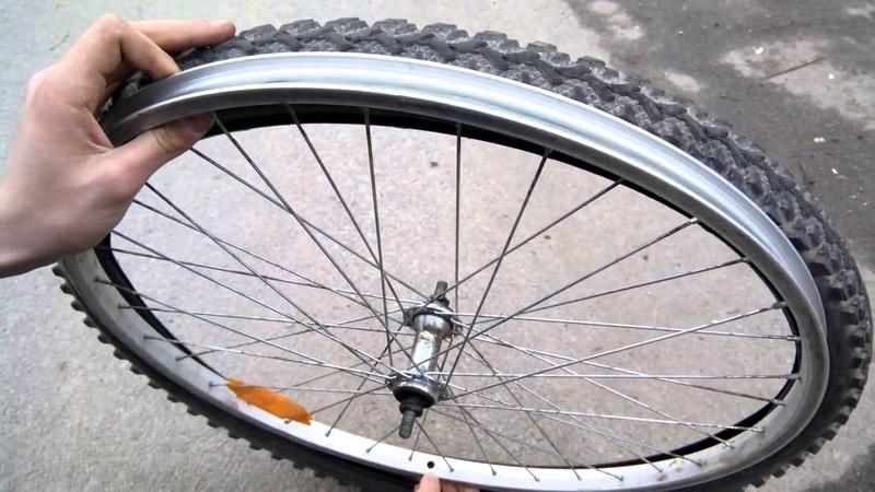 Как разбортировать колесо.