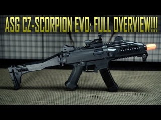 ASG CZ Scorpion EVO 3A1 - FULL Detailed Overview and Shooting! - Airsoft GI