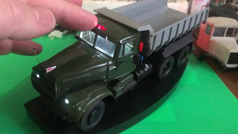 RC модель КрАЗ 256 САМОСВАЛ 43 масштаб конверсия НАП