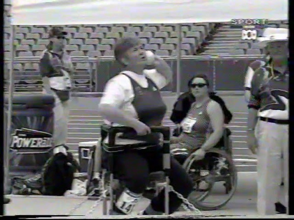 Sydney 2000 Paralympic Games Womens F52 54 Shot Put poor quality