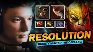 Dota 2 Bounty Hunter Offlane Gameplay Patch  by Resolut1on - How to Play Bounty Hunter Offlane!