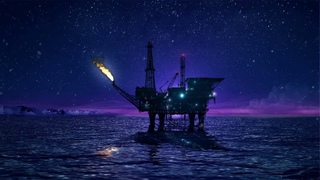 ❄ Relaxing Sounds of an Oil platform in the Arctic Ocean with Wind, Water & Snow Falling Ambience