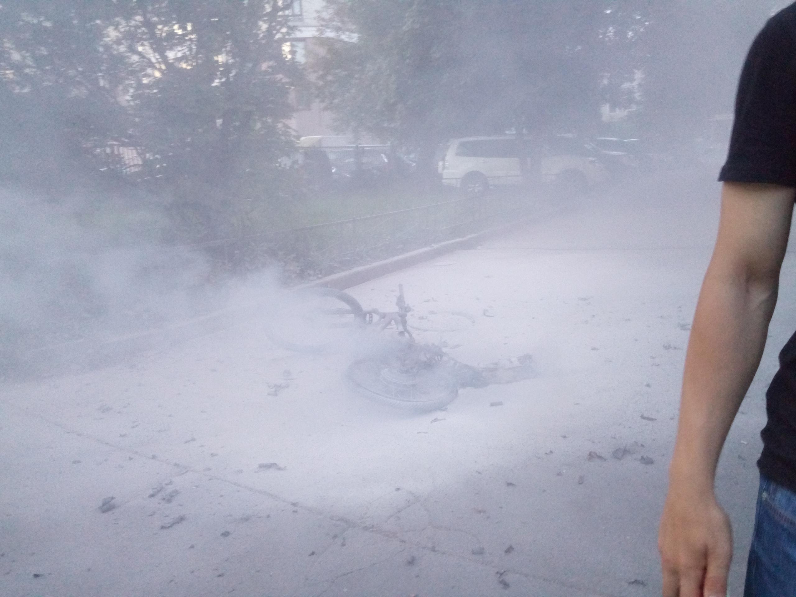 Сгорел э-вел в СПБ