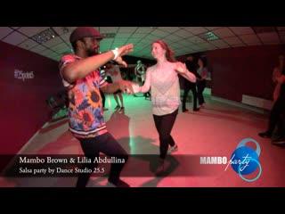 Salsa NY style. Mambo Brown & Lilia Abdullina    MAMBO party by Dance Studio 25.5