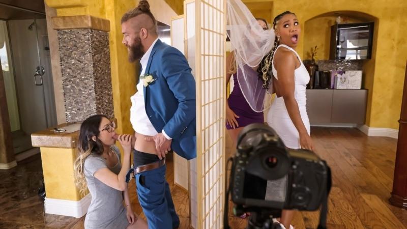 [Brazzers] Lulu Chu, Kayley Gunner - Wedding Smashers Part 3   All Sex Cheating MILF Big Tits Asian Threesome Porn 1080p Порно