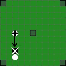 Хнефатафл (тавлеи) -  Возможные способы «срубания» фигуры противника (3)