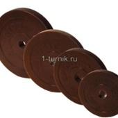 Диски для штанг 26 мм 2.5 кг обрезиненные