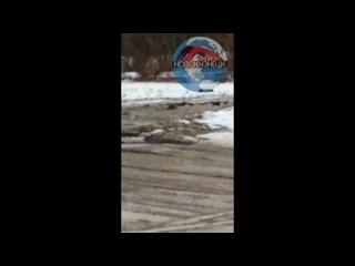 Потоп возле дома 106 по ул. 40 лет ВЛКСМ, Заводской район