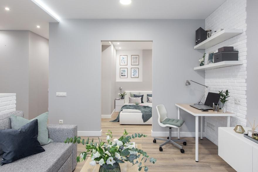 Интерьер квартиры 40 м в Московской области.