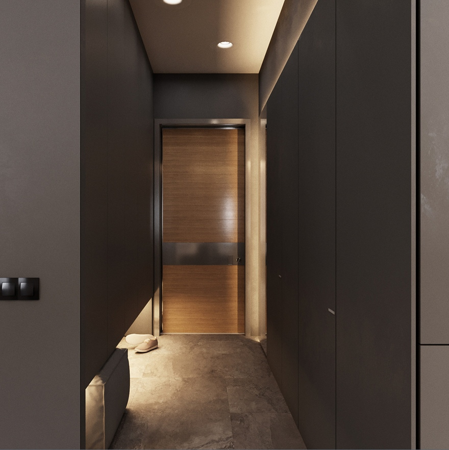 Проект квартиры 33 м (с лоджией 36 м).