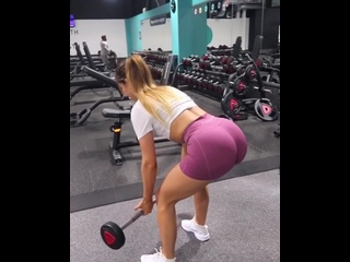 Большая попа Красивая девушка спортзал Супер попка упражнения Крутое видео шок тренировка Спорт мотивация фитоняшки фитнес секси