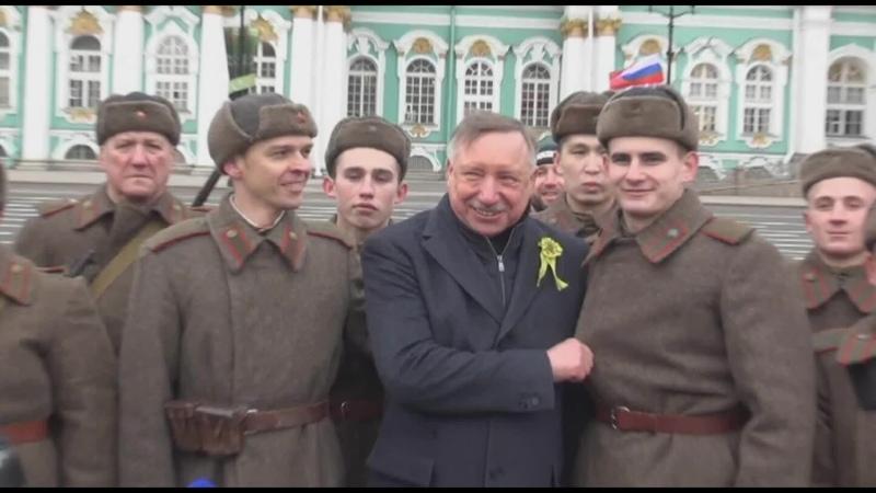 Как Беглов ел кашу с простым народом и пил чай из солдатской кружки Праздник освобождения Ленинграда Санкт Петербурга от блокады